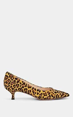 Barneys New York Women's Leopard-Print Suede Pumps - Yellow