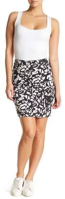 Nicole Miller Jean Detail Mini Skirt