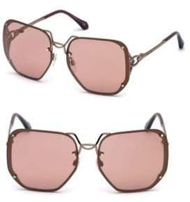 Roberto Cavalli 62MM Oversized Square Sunglasses
