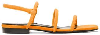 Dorateymur Orange Suede Easy Sandals