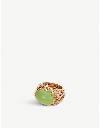 Rosegold BUCHERER JEWELLERY Lacrima 18ct rose-gold and stone ring