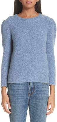 Co Puff Shoulder Cashmere Crepe Sweater