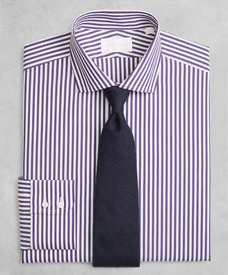 Brooks Brothers Golden Fleece Milano Slim-Fit Dress Shirt, English Collar Stripe