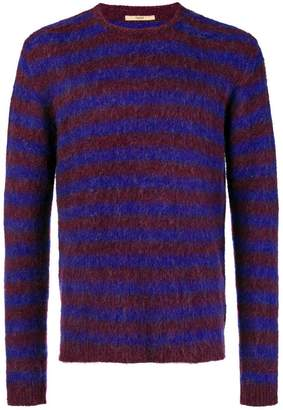 Nuur striped fuzzy sweater