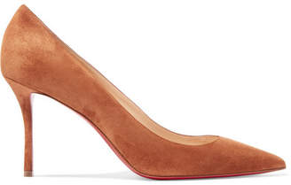 Christian Louboutin Decoltish 85 Suede Pumps - Camel