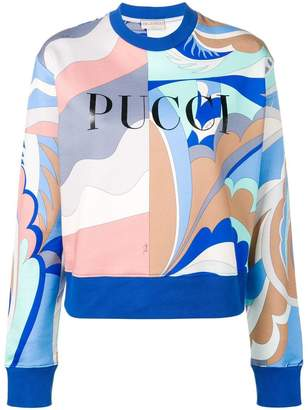 Emilio Pucci Acapulco Print Logo Sweatshirt