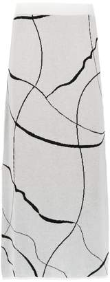 M·A·C Mara Mac midi knitted skirt