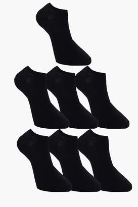 boohoo 7 Pack Plain Black Trainer Socks