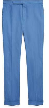 Ralph Lauren Slub Linen-Silk Suit Trouser