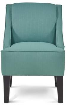 Mainstays Slight Arm Swoop Chair with Wood Legs, Laguna