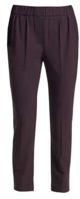 Brunello Cucinelli Stretch Wool Ankle Pants