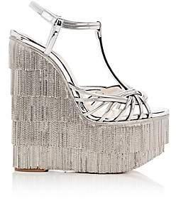 Christian Louboutin Women's Espelio Zep Platform-Wedge Sandals - Silver