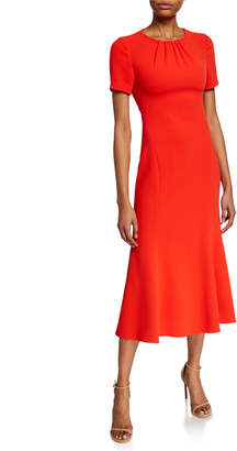 Diane von Furstenberg Rose Short-Sleeve Midi Dress with Back Cutout