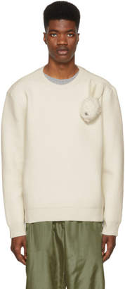 J.W.Anderson Off-White Bunny Brooch Crewneck Sweater