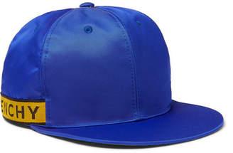 Givenchy Logo Webbing-Trimmed Satin Baseball Cap - Royal blue