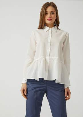 Emporio Armani Shirt In Cotton Muslin
