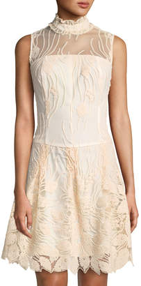 Nanette Lepore Nanette Embroidered Illusion Flapper Dress