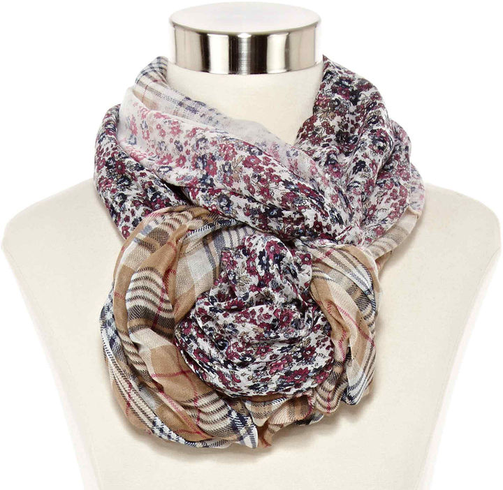 Arizona Floral Plaid Infinity Scarf