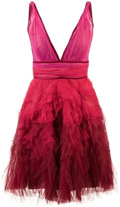 Marchesa ruffle tulle dress