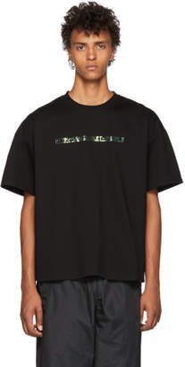 Doublet Black 404 Spangle Embroidery T-Shirt