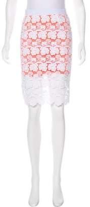 Rebecca Minkoff Lace Pencil Skirt