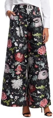 ADAM by Adam Lippes Floral Wide-Leg Trouser