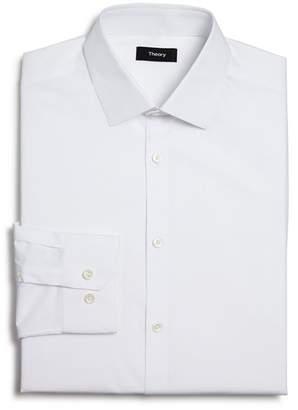 Theory Textured Dobby Slim Fit Dress Shirt