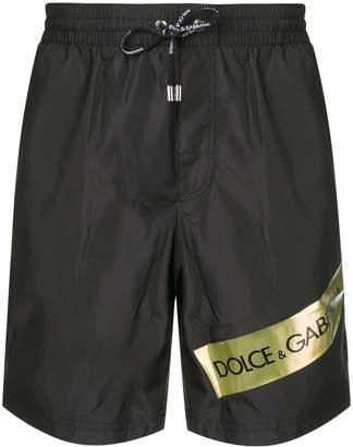 Dolce & Gabbana logo band swimming shorts
