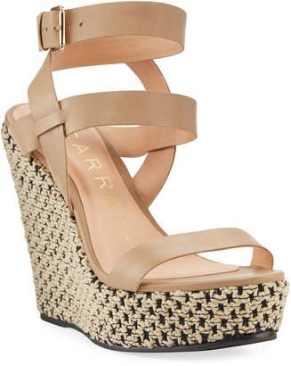 Carrano Dania Two-Tone Wedge Espadrille Sandals