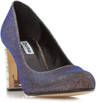 Dune LADIES BINDY - Jewel Block Heel Court Shoe