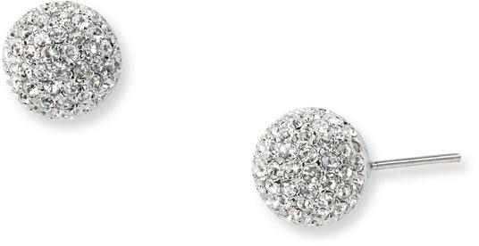 Nadri Medium Pave Ball Stud Earrings