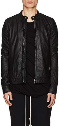 Rick Owens Men's Lou Blistered Leather Biker Jacket