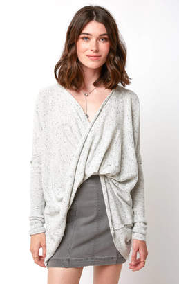 Neely Donegal Surplice Front Long Sleeve Wrap Pullover