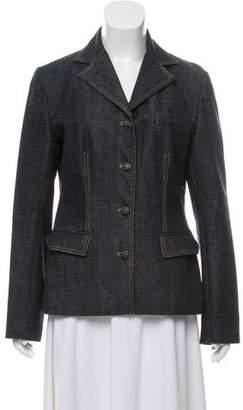 Dolce & Gabbana Denim Long Sleeve Blazer