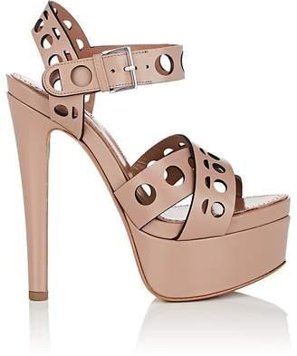 Alaia Women's Laser-Cut Leather Platform Sandals
