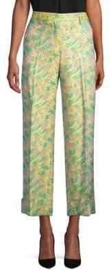 Dries Van Noten Cropped Brocade Pants