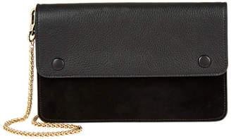 Jaeger Edith Leather Suede Mix Shoulder Bag