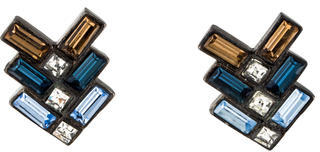 Giles & Brother Crystal Chevron Earrings $45 thestylecure.com