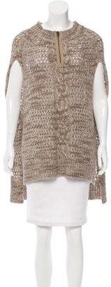 Brochu Walker Open Knit High-Low Cape $225 thestylecure.com
