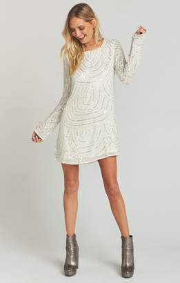 Show Me Your Mumu Iggy Dress ~ Frosty Beaded Sequins