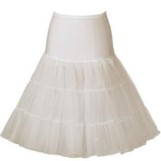 7cf49226e6c Beauty-Emily Women s 50s Vintage Skirt Petticoat Ruffles Mini Half Slips Tutu  Underskirt