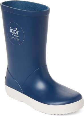 Igor Toddler/Kids Girls) Denim Splash Nautico Rain Boots