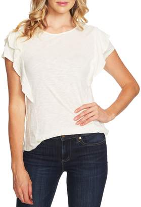 CeCe Tiered Ruffle-Sleeve Knit Top