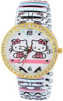 Hello Kitty Pappi Boss Unique Designer Stone Studded Cute Teddy Stretchable Bracelet Band Watch for Girls, Women