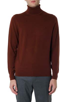 Brick Turtle-neck Wool Sweater