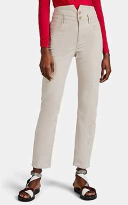 Isabel Marant Women's Verna Cotton Corduroy Skinny Jeans - Ivorybone
