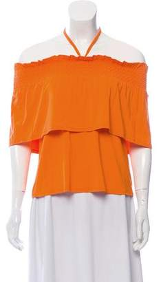 Rebecca Minkoff Off-The-Shoulder Overlay Blouse