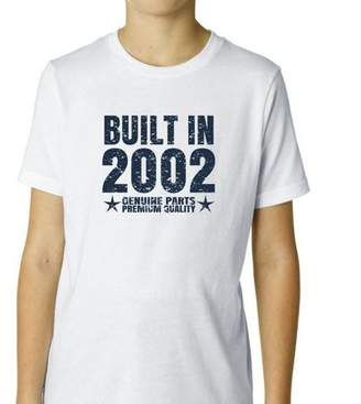 Hollywood Thread Built In 2002 - Perfect Birthday Present Gift - Vintage Boy's Cotton Youth T-Shirt