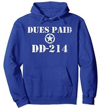 DD-214 USA Army Veteran Dues Paid Hoodie