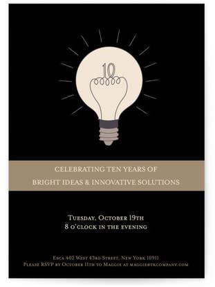 Bright Ideas Party Invitations